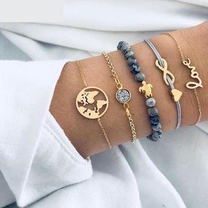 Earth/Boho crystal bracelet set